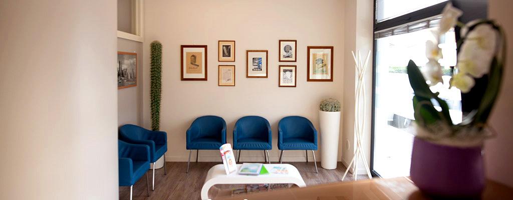 Sala d'attesa dello studio dentistico